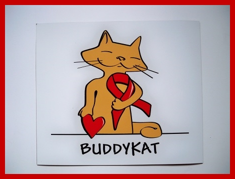 Magneetsticker Buddy Kat