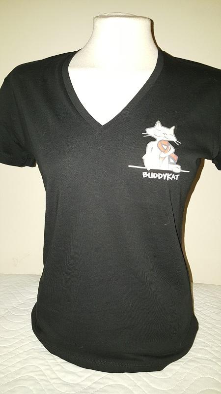 Buddy Kat shirt vrouw Zwart (nieuw!)