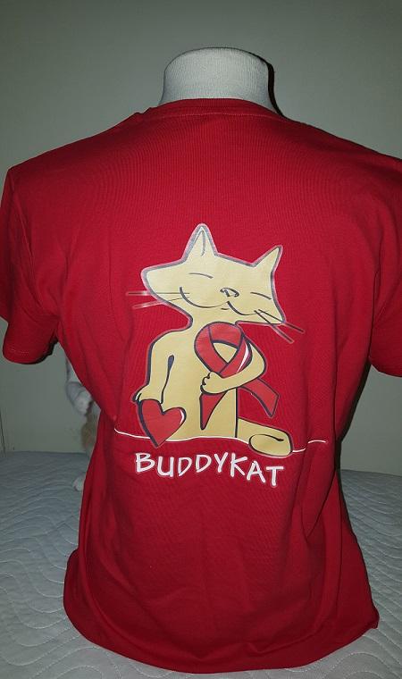 Buddy Kat shirt vrouw Rood (nieuw!)
