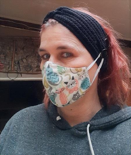 Winter haarband ook voor mondmasker