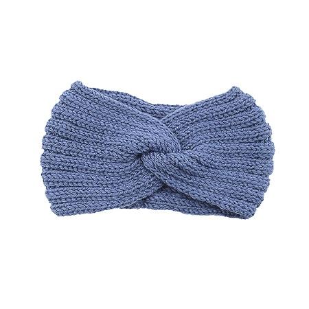Winter haarband blauw ook voor mondmasker