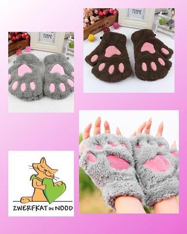 Vingerloze handschoenen grijs