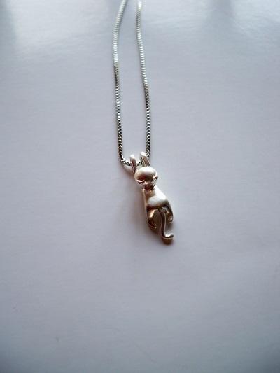 Halsketting met hangend katje