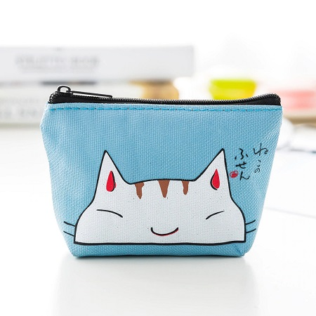 Kleine portemonnee blauw