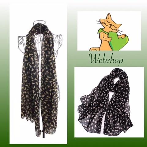 zwarte katten sjaal