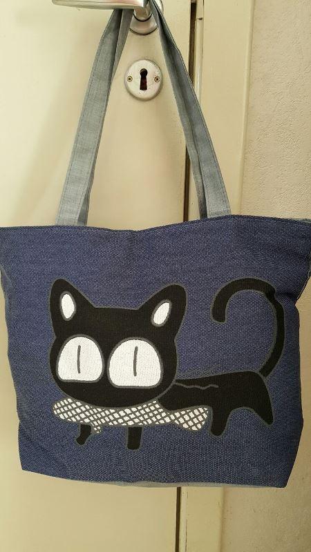 Katten tas blauw