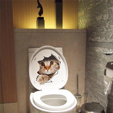 Toilet sticker Kat