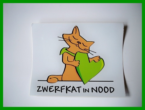 Sticker Logo Zwerfkat