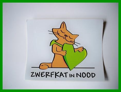 Sticker Logo Zwerfkat